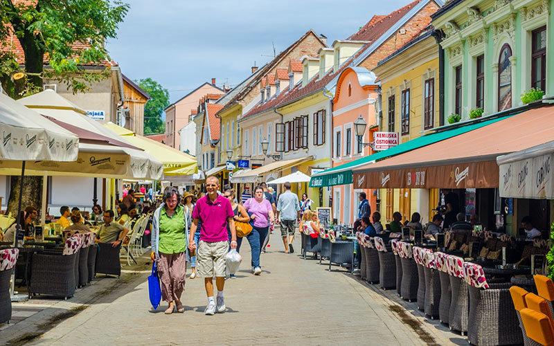 Zagreb Tkalčićeva Street by trabantos