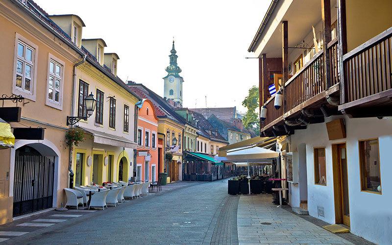 Zagreb Tkalčićeva Street in the morning