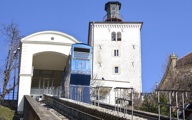 Zagreb Funicular Shortest Funicular In The World Visit Zagreb