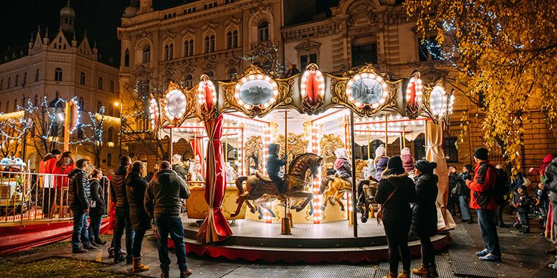 Advent Zagreb Fooling Around at Strossmayer square | Photo: Marija Gasparovic | Zagreb Tourist Board